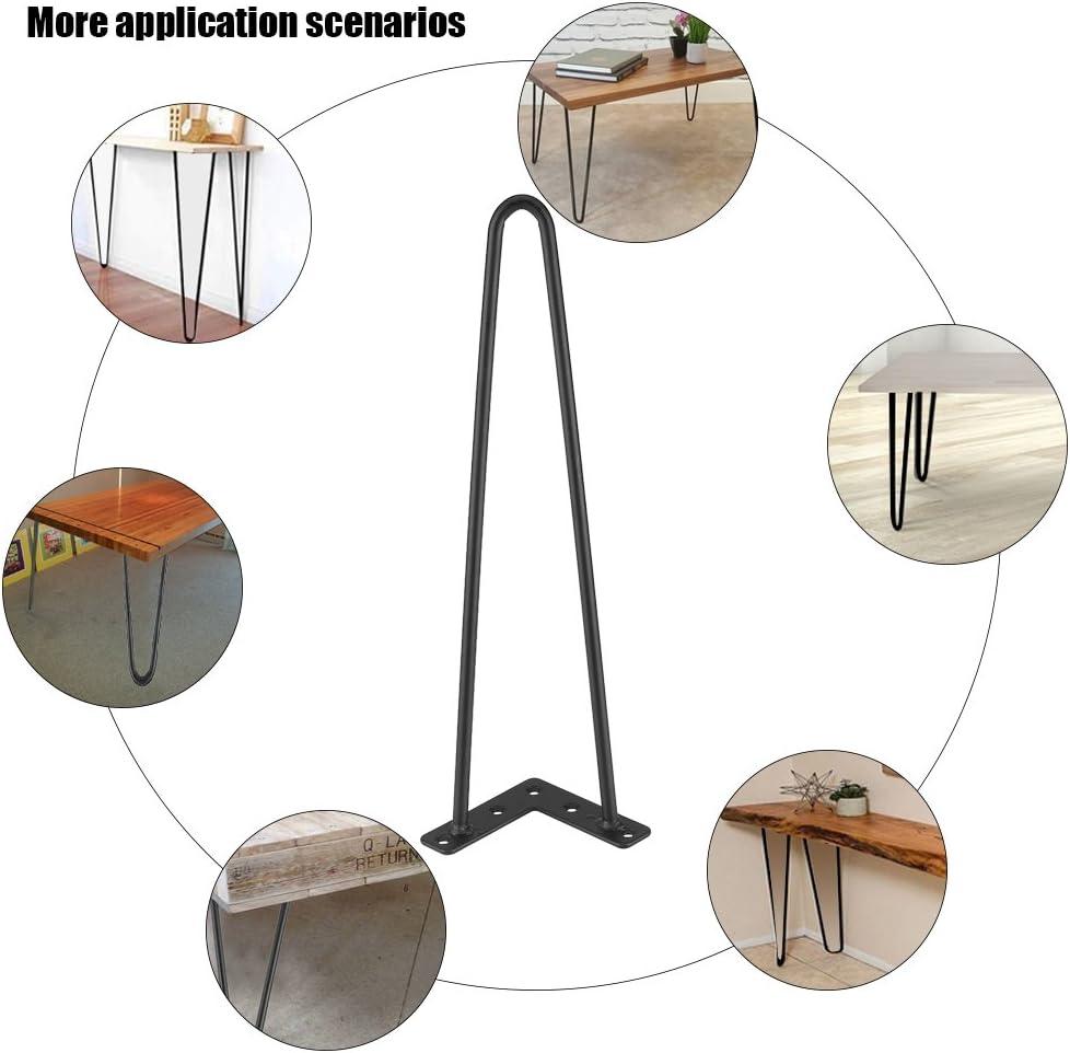 Mesa Soporte Hierro forjado muebles patas pata de mesa comedor mesa Muebles piernas 4/unidades Set /óxido Potencia Estable Dise/ño Minimalista Moderno Negro 10/mm