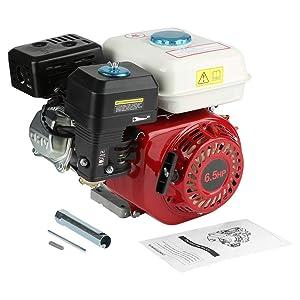 Zoternen Motor de Gasolina de 4 Tiempos 6.5HP Motor de Gasolina de Repuesto para Equipos Industriales y Agrícolas
