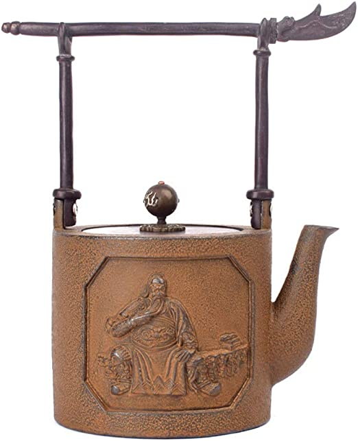VA-cake tray Cast Iron Pot, de Hierro Fundido Retro clásico Tetera ...