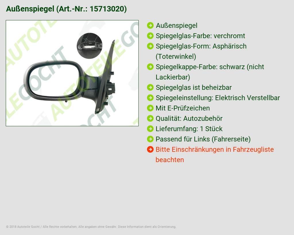 Ele Au/ßenspiegel Links Asph Schwarz 15713020 Heizb