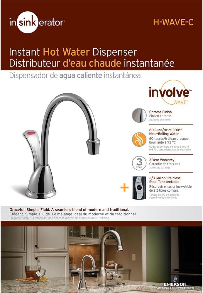 InSinkErator ISE-H-WAVESN-SS Instant Hot Water Dispenser