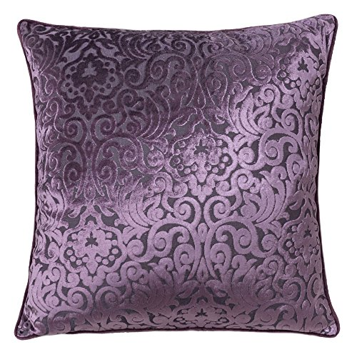 Homey Cozy Modern Velvet Throw Pillow Cover,Plum Purple Luxury Elegant Floral Soft Fuzzy Cozy Warm Slik Decorative Square Couch Cushion Pillow Case 20 x 20 Inch, Cover Only Plum Square Pillow