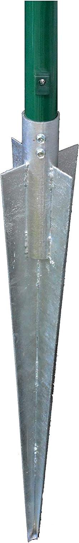 Bodenh/ülse mit Einschubrohr Pfostentr/äger f/ür Pfosten /Ø 34 mm Einschlagh/ülse Erdspie/ß 560 mm
