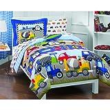 Trains Trucks Comforter Bedding Sheets Set Sham