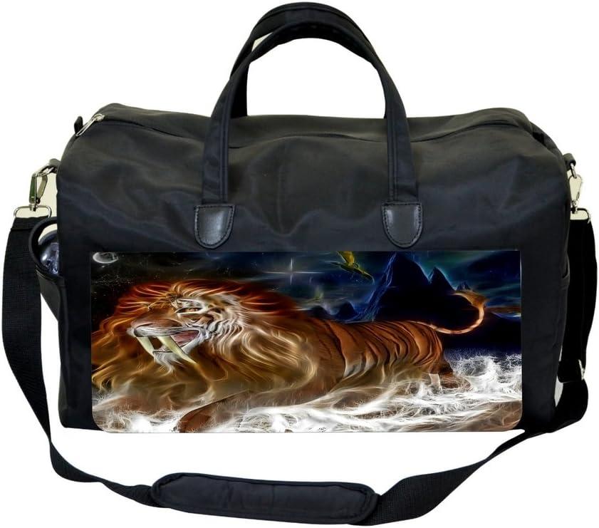 Whimsical Fanged Lion Fantasy Print Design Sports Bag
