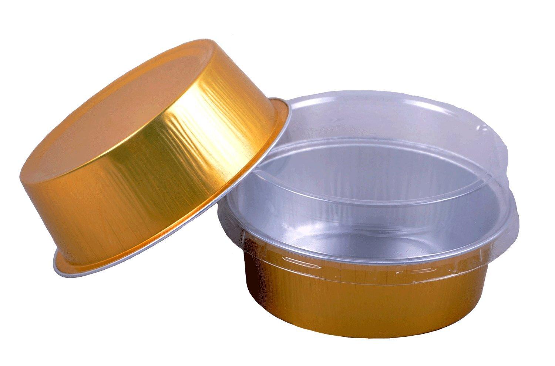Cutequeen 100pcs 130ml Golden Aluminum Foil Cups FOR Muffin Cupcake Baking Bake Utility Ramekin Cup (pack of 100)