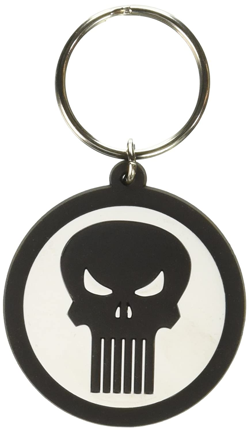 Marvel Punisher Logo PVC Soft Touch Anillo Llavero ...
