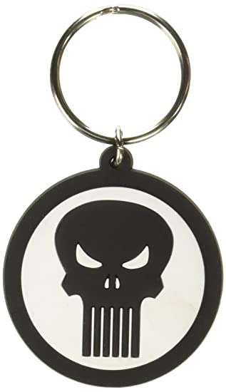Marvel Punisher Logo PVC Soft Touch Anillo Llavero ...