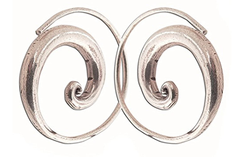 Pure Silver 99.5 Thai Gift New Hand Made Thai Karen Hill Tribe Silver Earrings