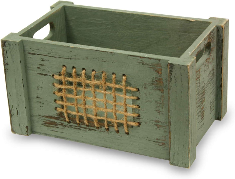 MIMBRE NATURAL Caja Madera Rejilla (26 × 16 × 14): Amazon.es: Hogar
