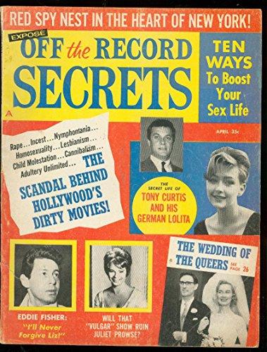(OFF THE RECORD SECRETS-APR 1963-TONY CURTIS-LOLITA-SPY VG)