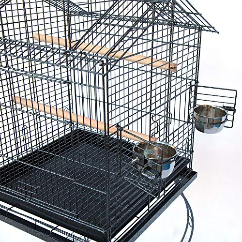 Bird Parrot Cage with Stand Cockatiel Amazon...