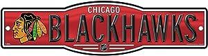 WinCraft NHL Chicago Blackhawks 4''x17'' inch Plastic Street Sign