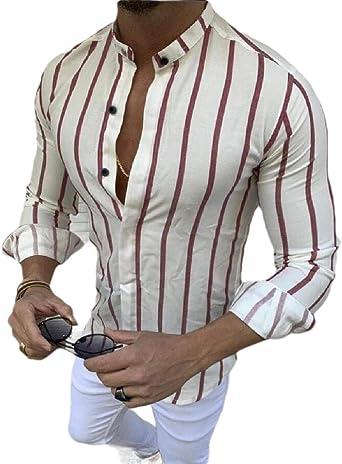 BingSai - Camisa de Vestir de Manga Larga para Hombre ...