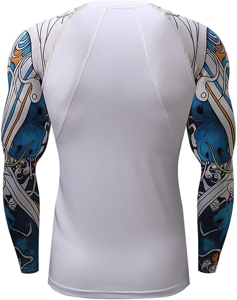 Mens Shirts Long Sleeve Casual Patchwork Dry Fit Yoga Fitness Muscle Tee T-Shirt Tops Blouse Pullover Jumper Sweatshirts