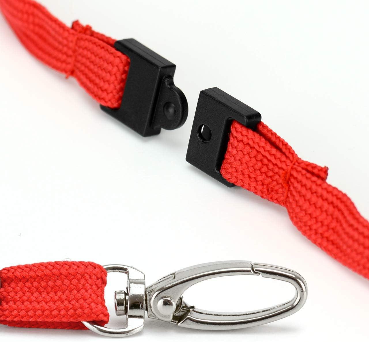 CKB LTD 50x Premium Rouge Cordon Lanyard Courroie de Cou Strap lani/ère Swivel Metal Clip for Carte ID Support De Badge Card Holder 46cm