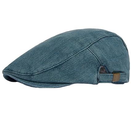 Amazon.com  Unisex Flat Cap Caps Cabbie Hat Adjustable Driver Hunting Hat   Sports   Outdoors 95c6ac8874d6