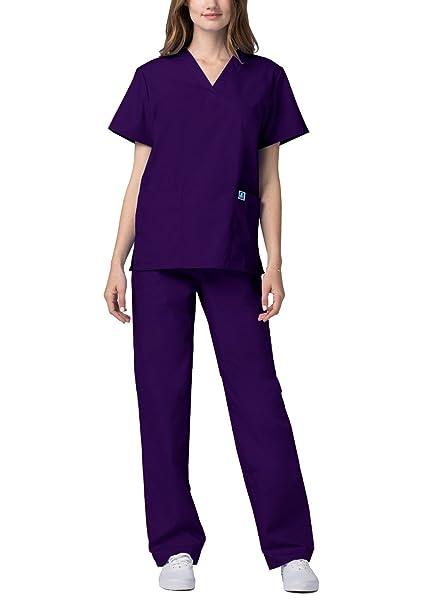 Adar Uniforme Médico Unisex con Casaca y Pantalones: Amazon.es: Ropa y accesorios