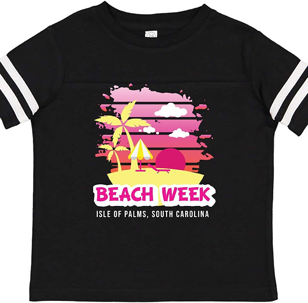 inktastic Beach Week Isle of Palms South Carolina with Palm Toddler T-Shirt