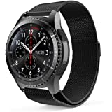 ProCase Replacement Band for Galaxy Watch (46mm), Stainless Steel Milanese Loop Metal Band Adjustable Wristbands Bracelet Strap for Samsung Galaxy Watch (46mm) for Women Men -Black, Large