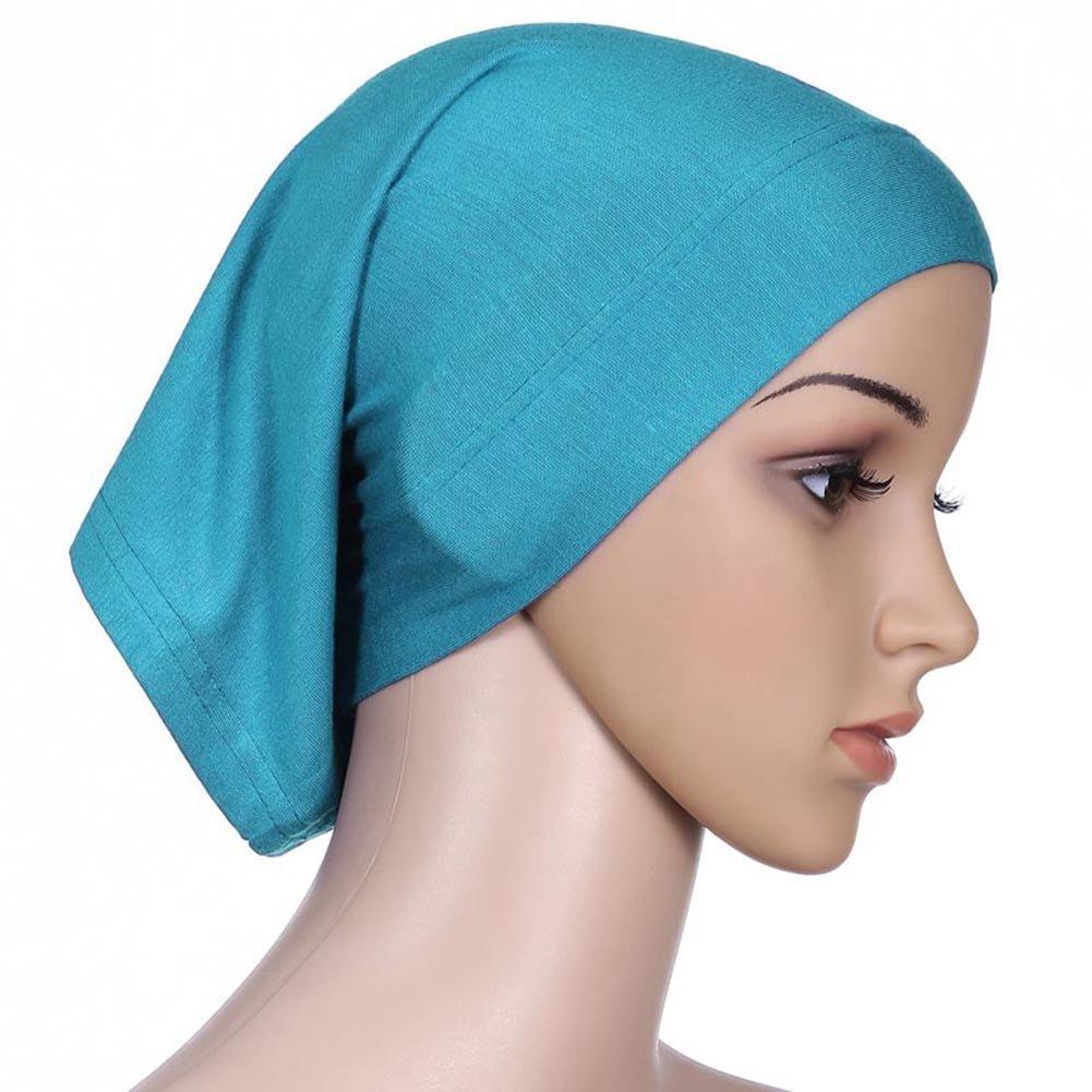 Daxin 20 Colors Under Scarf Hijab Tube Bonnet Bone Chemo Hat Lycar Fabric