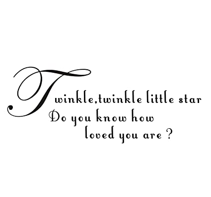 EKEA-Home Home Decorative Mural Decal Art Vinyl Quotes Wall Sticker Song  Lyrics Twinkle Star Slogan Wallpaper