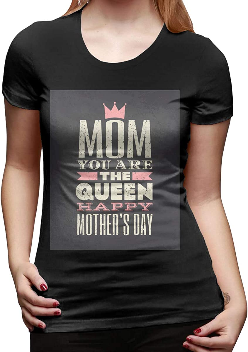 Short Sleeve T Shirt for Ladies Black LucyEve Designed T Shirt Happy Mothers Day