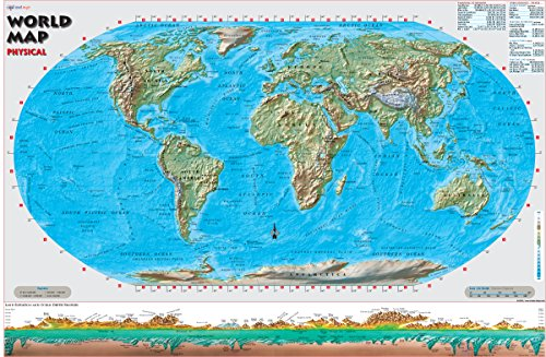 world map physical - 6