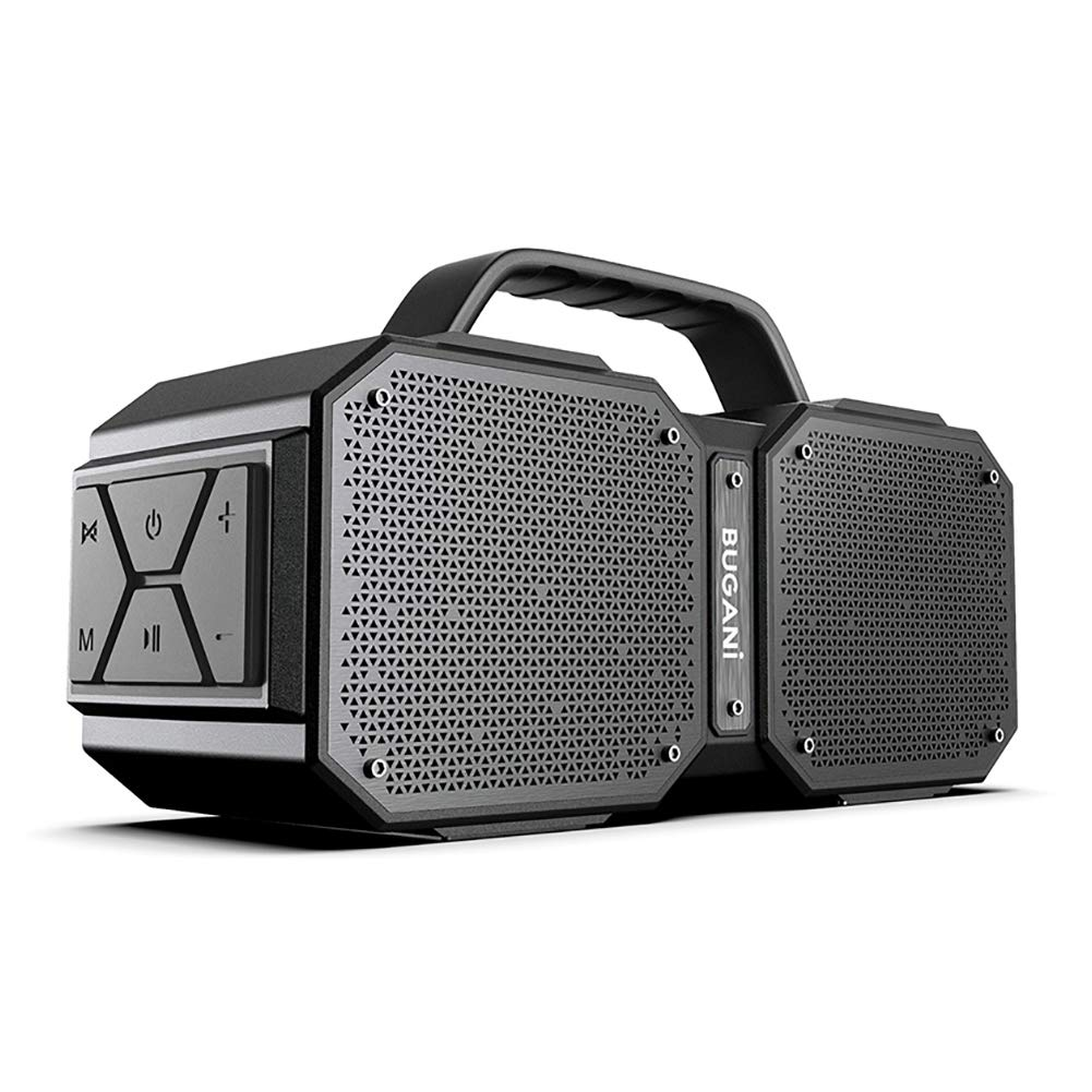 BUGANI Bluetooth Speakers, M83 Portable Bluetooth Speakers 5.0, 40W Super Power, Rich Woofer, Stereo Loud. Suitable for Family Gatherings and Outdoor Travel. (Black) by BUGANI