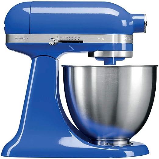 KitchenAid Mini - Robot de cocina (3,3 L, Azul, palanca, 200 RPM, 1,219 m, CC): Amazon.es: Hogar