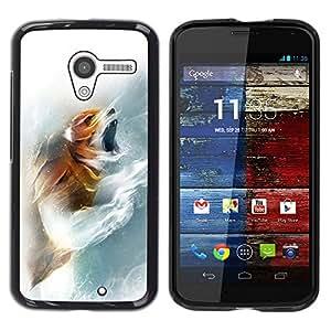 YiPhone /// Prima de resorte delgada de la cubierta del caso de Shell Armor - Fox Roar - Motorola Moto X 1 1st GEN I XT1058 XT1053 XT1052 XT1056 XT1060 XT1055