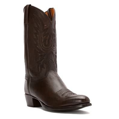 Lucchese Since 1883 Men's M1023.R4 Rounded Toe Cowboy Heel Boot,Antelope  Walnut