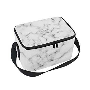 b80c1ba0af10 Amazon.com: Vantaso Lunch Cooler Bag Insulated White Marble for ...