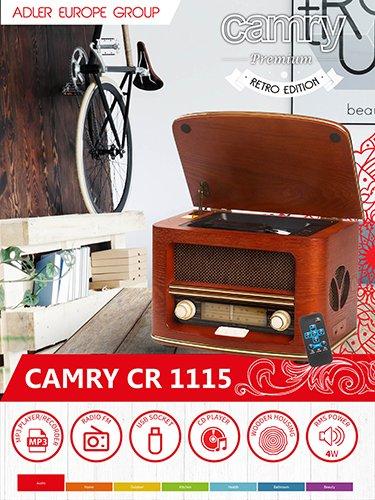 Camry Radio Retro Cd//Mp3//Record Brown