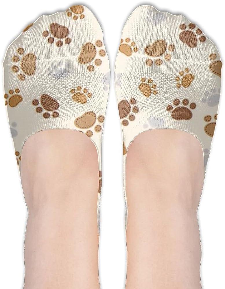 Dog Paw Print-footprint Womens Low Cut Socks No Show Liner Boot Sock Athletic Socks Thin Fit