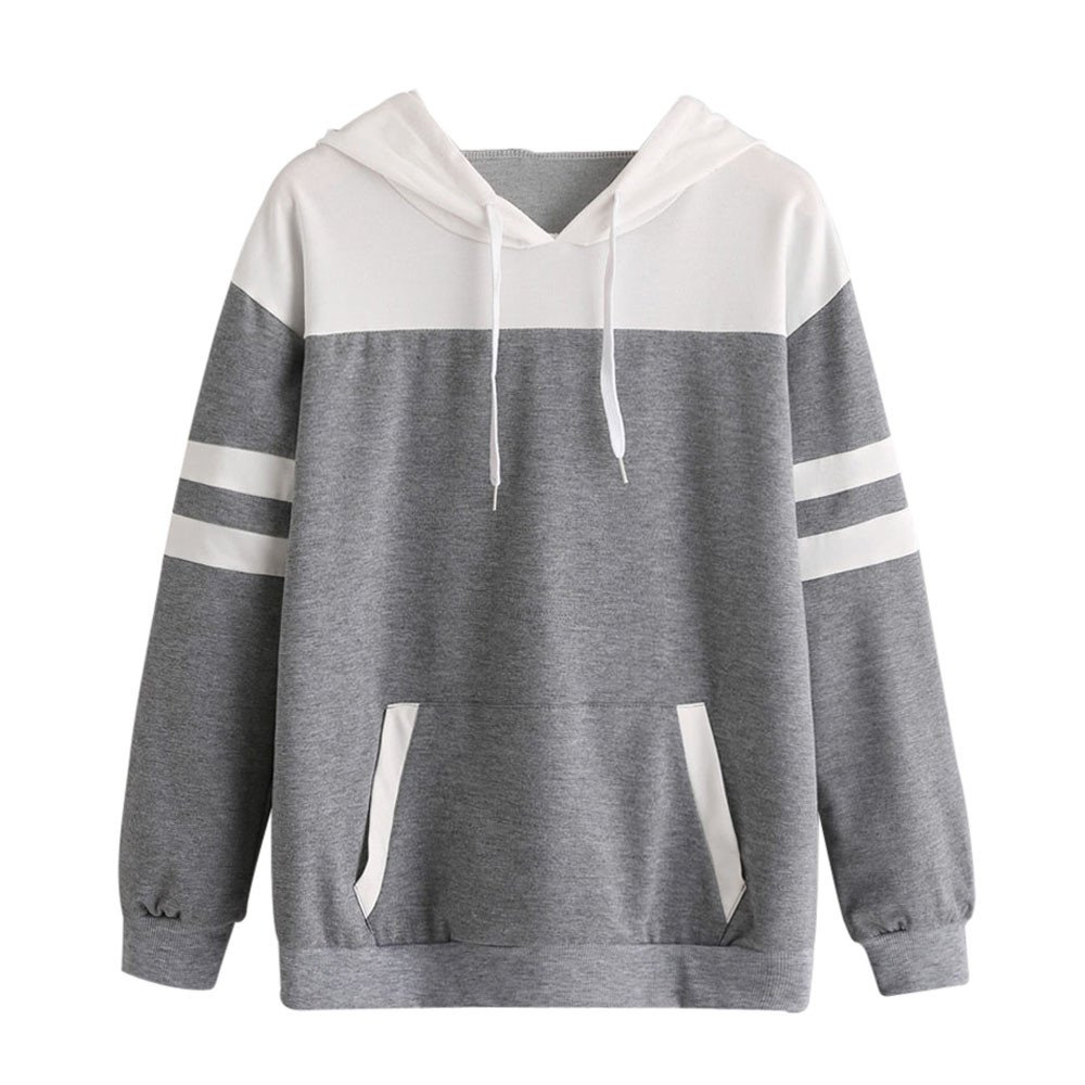 3a21481cc46e Hengshikeji Clearance Womens Top Hoodies Sweatshirts Casual Long Sleeve  Color Block Pullover Crop Shirts Blouses at Amazon Women's Clothing store: