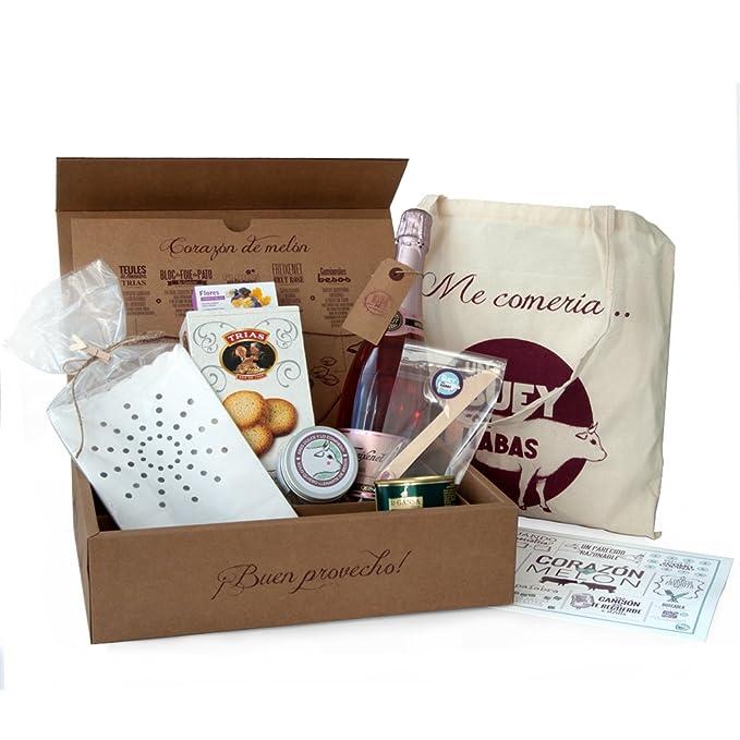 Cesta Gourmet Corazón de Melón de Amazon Shopping regalos