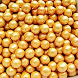 Natural 6mm Orange Nuts Dairy Soy Gluten GMO Free shimmer Pearls Bulk Pack