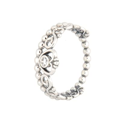 3bf5fd1f4 Amazon.com: PANDORA My Princess Stackable Ring, Sterling Silver, Clear  Cubic Zirconia, Size 10.5: Jewelry
