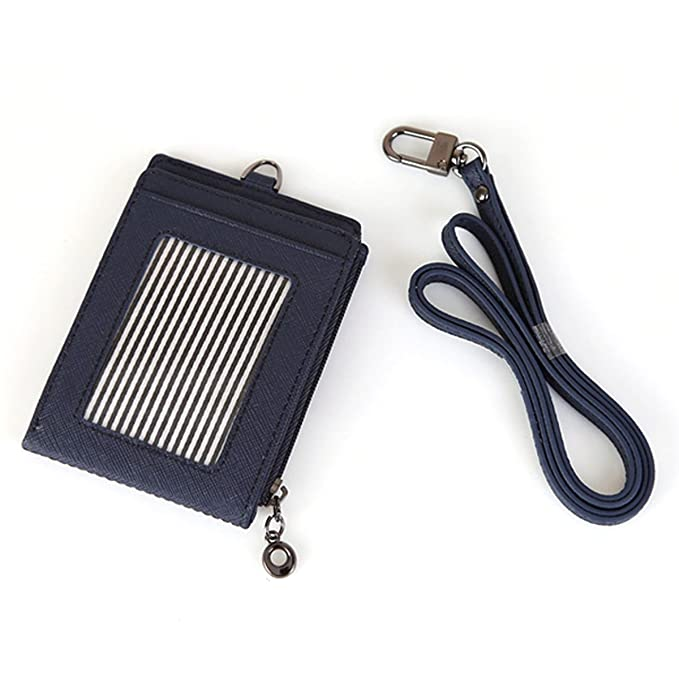 big sale c0c32 d3efe Slim Bills & Credit Card Holder Id Card Case Useful Purse with Neck Strap  Wallet