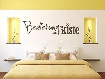 Wandtattoo Bilder® Wandtattoo Beziehungskiste Nr 1 Schlafzimmer Dekoideen  Wanddekoration Wohnideen Größe 100x24, Farbe