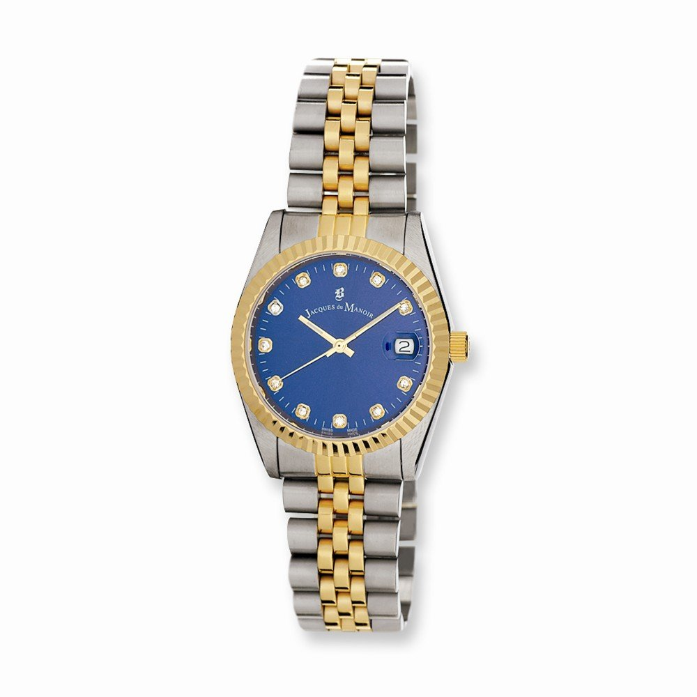 Top 10 Jewelry Gift Mens Jacques du Manoir Two-tone Strap Watch