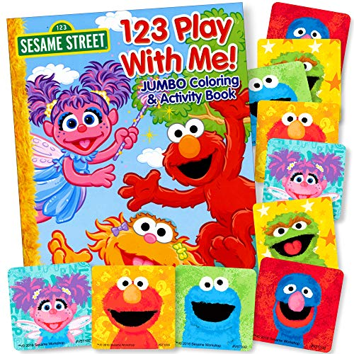 - Sesame Street Elmo Coloring Book with Sesame Street Stickers