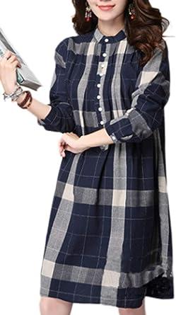 Blusas Mujer Primavera Otoño Camisa De Leñador Cómodo Manga ...