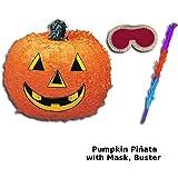 Spooky Halloween Extra Value Pumpkin Pinata Pack - Pumpkin Pinata, Pinata Buster, Pinata Blindfold