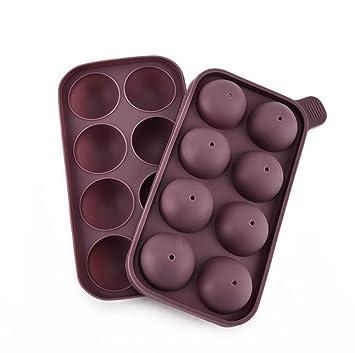 Toshine Moldes de silicona para chocolate y dulces, antiadherentes, para cubitos de hielo,