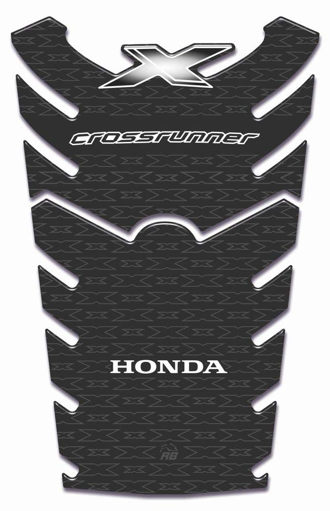 Protector De Depó sito 3d Protector De Depó sito Compatible Para Moto Honda Crossrunner De 2015 - Carbono ResinBike BK632647