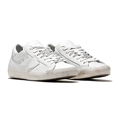 Philippe Model Herren Sneaker Low Paris L U Veau Blanc Aus