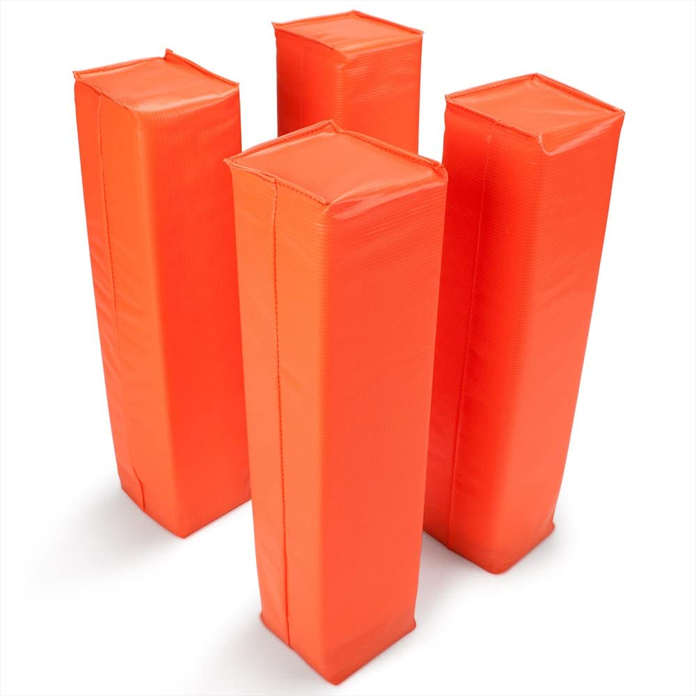 Crown Sporting Goods Anchorless Weighted Football Pylons (Set of 4), Orange : Sports & Outdoors