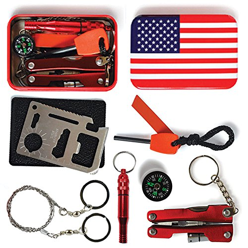 Professional Multi-tool SandP Emergency Survival Kit, Excellent for Hunting Hiking Climbing Camping Traveling, Colorful Outdoor Survival Kit, Perfect Gift (Excellent Tool)